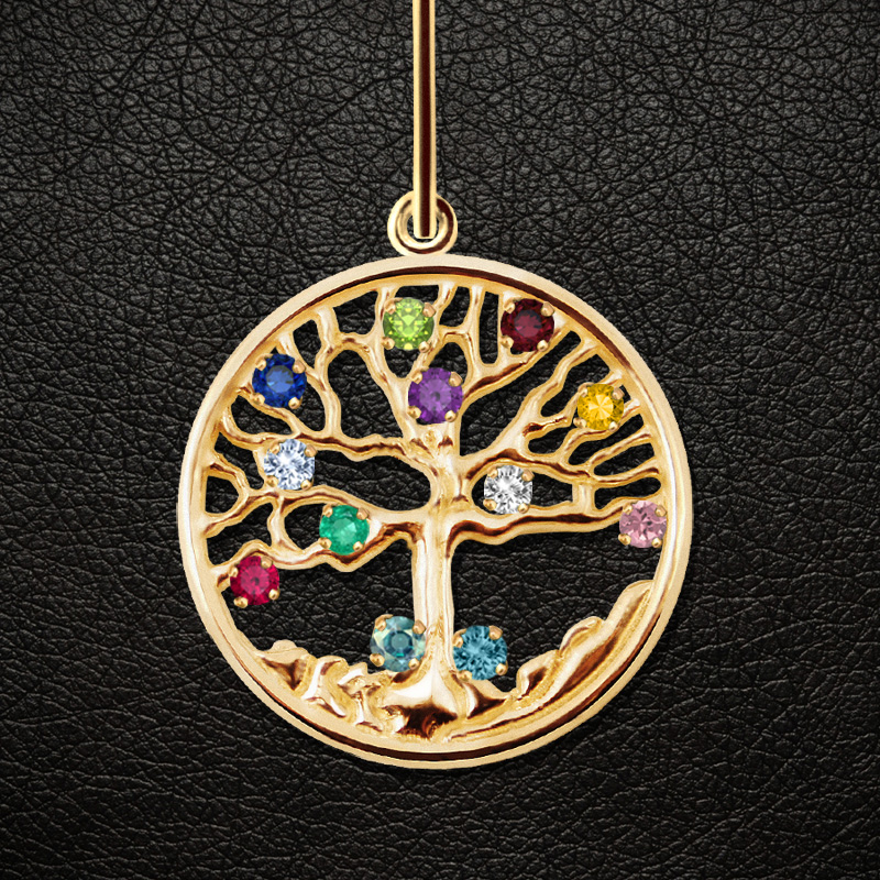 Family tree necklace family tree pendant family tree birthstone the family tree pendant aloadofball Gallery
